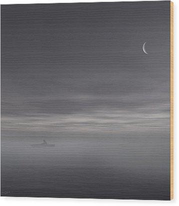 Sailing Solitude Wood Print by Lourry Legarde