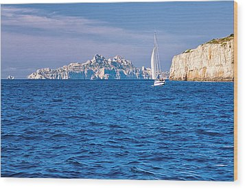 Sailing South Of France Wood Print by Joan Herwig
