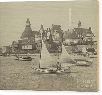 Sailing The Del Wood Print