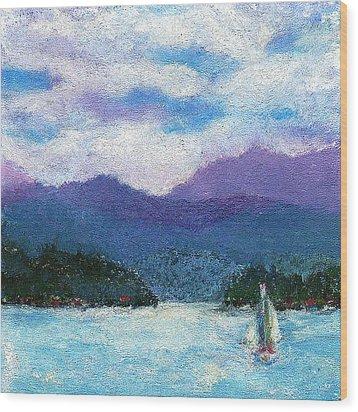 Sailing The Lake Wood Print by David Patterson