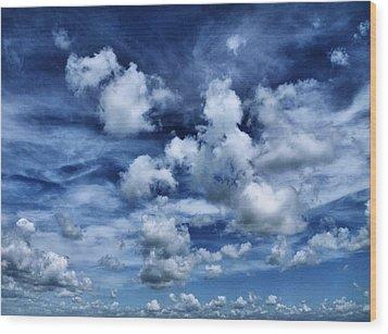 Sailing The Ocean Blue Wood Print by Tom Druin