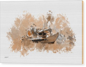 Sailing Time Wood Print by Lourry Legarde