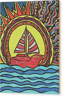 Sailing To The Sun Wood Print by Lorinda Fore