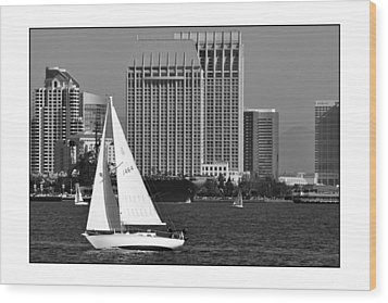 Wood Print featuring the digital art Sailing To Work by Kirt Tisdale