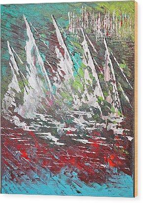 Sailing Together - Sold Wood Print