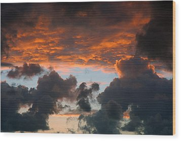 Sailors Take Warning Wood Print by Allen Carroll