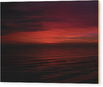 Sailors Take Warning Wood Print