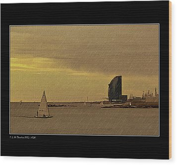 Wood Print featuring the photograph Sails by Pedro L Gili