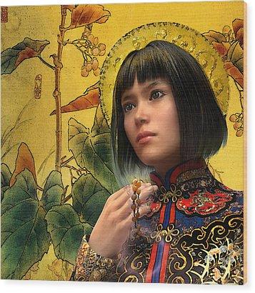 Saint Agatha Lin Zhao Of China Wood Print