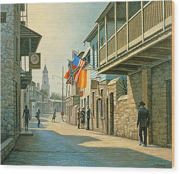 Saint Augustine Street   Wood Print by Paul Krapf