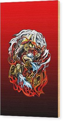 Saint Florian Wood Print by Michael Spano