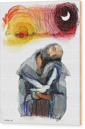 Saint Francis Wood Print