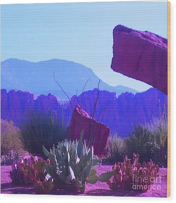 Wood Print featuring the photograph Saint George Rocks by Ann Johndro-Collins