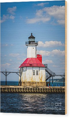Saint Joseph Lighthouse Picture Wood Print by Paul Velgos