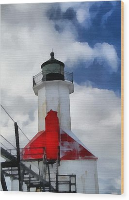 Saint Joseph Michigan Lighthouse Wood Print by Dan Sproul