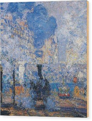 Saint Lazare Station Wood Print by Claude Monet
