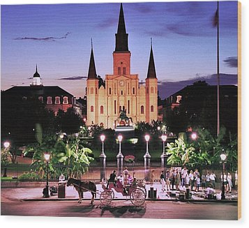 Saint Louis Cathedral New Orleans Wood Print