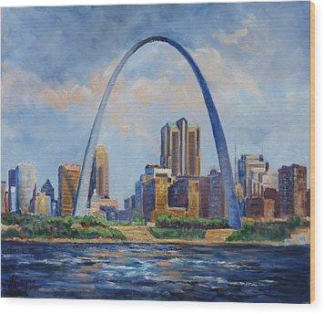 Saint Louis Skyline 2 Wood Print