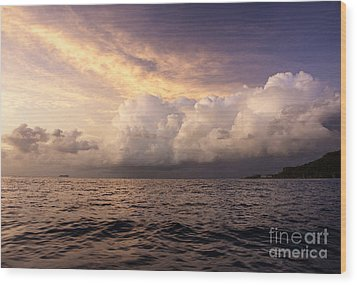Wood Print featuring the photograph Saint Lucian Sunset by Rafael Quirindongo