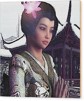 Saint Lucy Yi Zhenmei   Lotus Of China Wood Print