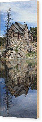 Saint Malo Chapel Wood Print by Shane Bechler