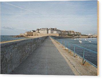 Saint Malo France Wood Print by Francesco Emanuele Carucci