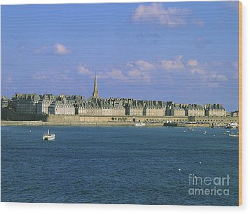 Saint Malo. Ille Et Vilaine. Brittany. Bretagne. France. Europe Wood Print by Bernard Jaubert