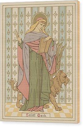 Saint Mark Wood Print by English School