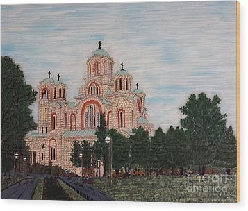 Saint Marko Church  Belgrade  Serbia  Wood Print by Jasna Gopic