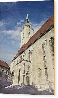 Saint Martins Cathedral  Wood Print by Jelena Jovanovic