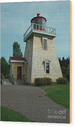 Saint Martin's Lighthouse Wood Print by Kathleen Struckle