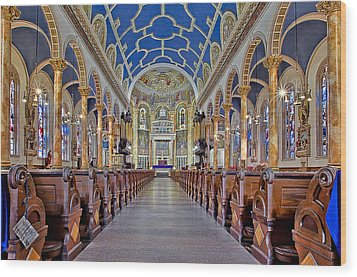 Saint Michael Catholic Church Wood Print by Susan Candelario