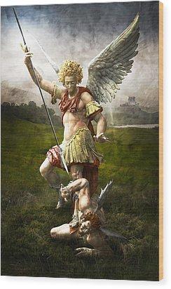 Saint Michael's Triumpf Wood Print