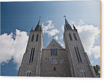 Wood Print featuring the photograph Saint Paul Cathedral In Midland Ontario by Marek Poplawski