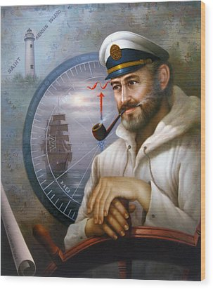 Saint Simons Island Sea Captain 1 Wood Print