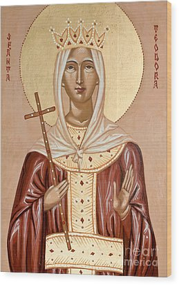 Saint Theodora Of Arta Wood Print by Olimpia - Hinamatsuri Barbu