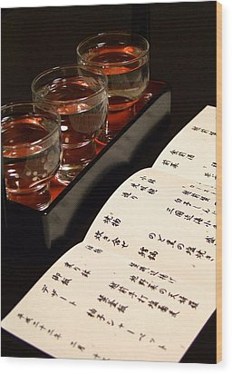 Sake Delight Wood Print by Larry Knipfing