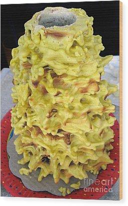 Sakotis. Lithuanian Tree Cake. Wood Print by Ausra Huntington nee Paulauskaite