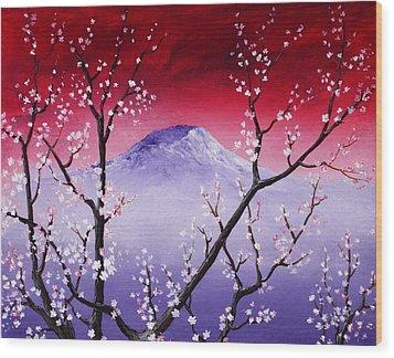 Sakura Wood Print by Anastasiya Malakhova