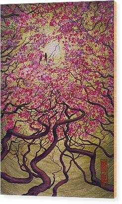 Sakura Wood Print by Vrindavan Das