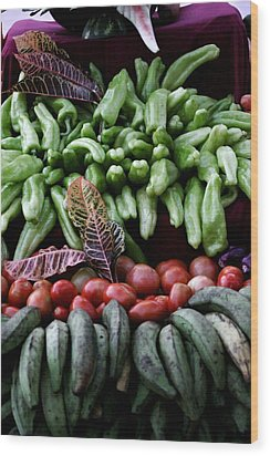 Salad Fixings Wood Print by Mustafa Abdullah