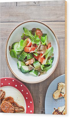 Salad Wood Print by Tom Gowanlock