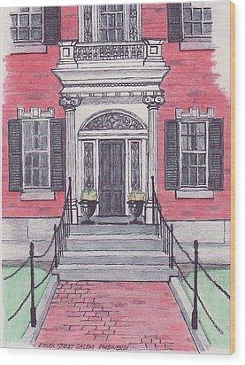 Salem Essex Street Front Door Wood Print