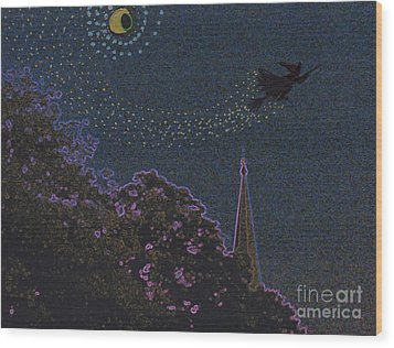 Salem Witch Moon 2 By Jrr Wood Print by First Star Art