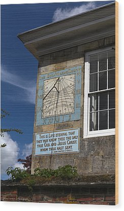 Wood Print featuring the photograph Salisbury Sundial by Ross Henton