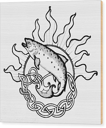 Salmon Of Knowledge Wood Print by Tomas OMaoldomhnaigh