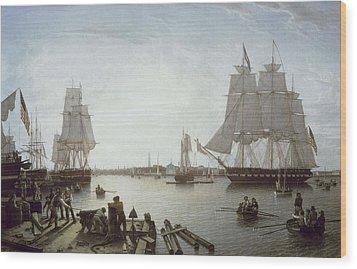 Salmon, Robert 1775-1845. Boston Wood Print by Everett