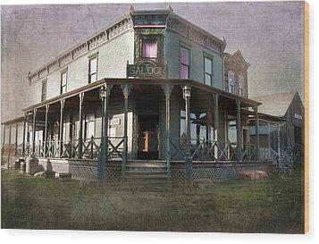 Saloon Wood Print by Judy Hall-Folde