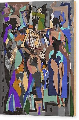 Salsa Caliente Wood Print by Clyde Semler