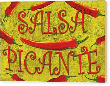 Wood Print featuring the photograph Salsa Picante by Selke Boris
